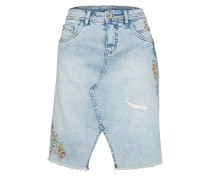 Jeansrock 'Flower' blue denim
