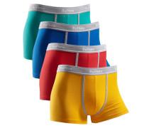 Boxer (4 Stück) mit kontrastfarbenem Bund und Pipings