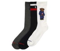 Socken '3Pk Sprt Br-Crew-3'