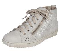 Sneaker 'High' mit Strass und Perlen grau