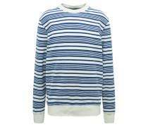 Sweatshirt creme / blau
