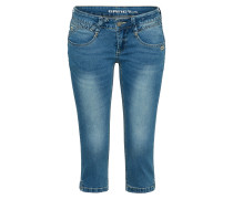Jeans 'nena 3/4 - blue stretch' blue denim