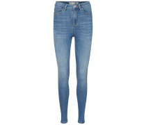 High-waist-Jeans 'sophia' blue denim