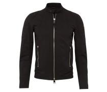 Jacke mit Biker-Details dunkelgrau