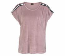 T-Shirt aus weichem Nicki altrosa