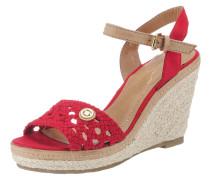 Sandaletten beige / hellbeige / rot