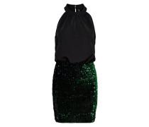 Kleid dunkelgrün / schwarz