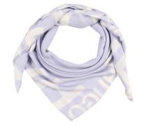 Tuch mit Marken-Print royalblau