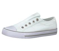 Schnürungsloser Sneaker weiß