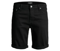 Superstretch Jeansshorts black denim