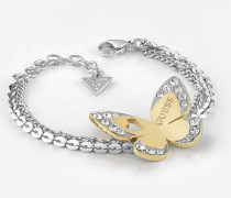 Armband 'Love Butterfly' gold / silber