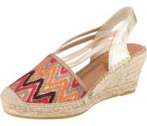 Sandale mischfarben / gold