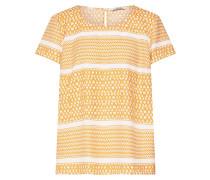 Bluse 'onlATHENA' gelb / weiß