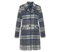 Mantel dunkelblau / wollweiß