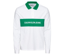 Langarmshirt 'ccontrast Collar L/S Polo'