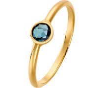 Ring '60119074' pastellblau / gold