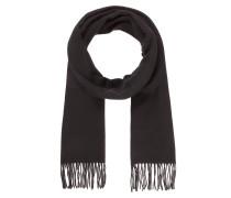 Kaschmir-Schal mit Fransen schwarz