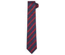 Krawatte dunkelblau / rot