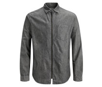 Langarmhemd grey denim