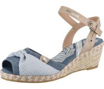 Sandale camel / blue denim