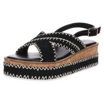 Sandale hellbeige / schwarz