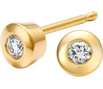 Ohrstecker '81618887' gold / silber
