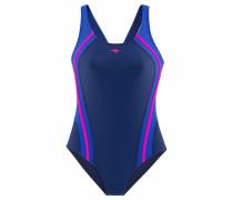 Badeanzug blau / navy / fuchsia