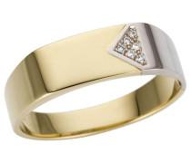 Goldring 'Glanz massiv' gold / silber