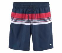 Shorts navy / rot / weiß