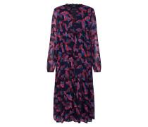 Kleid 'farina' nachtblau / rot