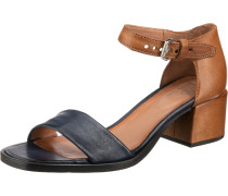 Sandalette karamell / nachtblau