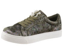 Plateausneaker oliv