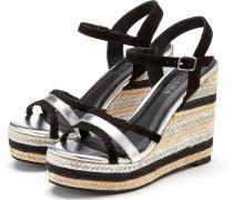 Sandalette schwarz / silber