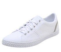 Denim-Sneaker 'Silvana Lace up' weiß