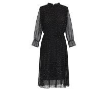 Kleid creme / schwarz