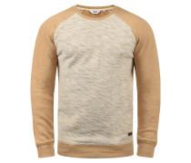 Sweatshirt 'Flocker' beige / braun