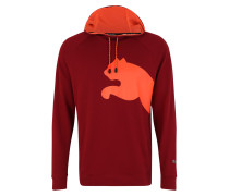 Sport-Sweatshirt 'Cat' orange / weinrot