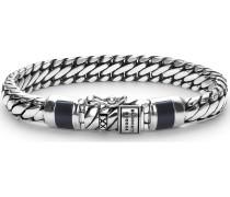 Armband 'Ben' schwarz / silber