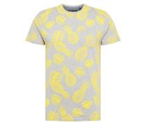 Shirt gelb / hellgrau