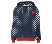 Hoodie dunkelblau / rot / weiß