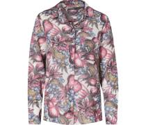 Bluse grau / rosa / weiß