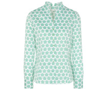 Bluse 'modern Classic' jade / weiß