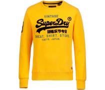 Sweatshirt Herren goldgelb