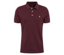Polo 'Plain Polo Shirt' burgunder