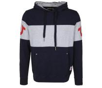 Sweatshirt navy / graumeliert / rot
