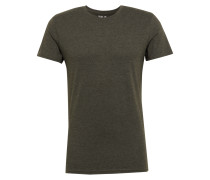 T-Shirt 'Rock Melange' dunkelgrün