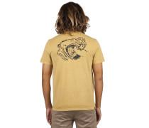 T-Shirt 'Set Up' senf / schwarz