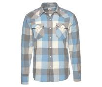 Hemd blau / grau