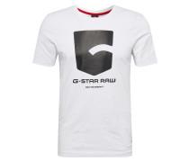 Shirt 'Graphic 47 r t s\s' weiß