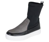 Sneaker 'Mid Domino' grau / schwarz